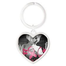 F-Cancer Heart Keychain