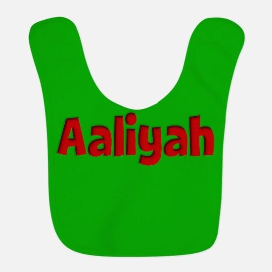 Aaliyah Green and Red Bib