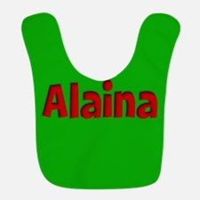 Alaina Green and Red Bib