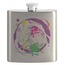 grunge irish dance black Flask