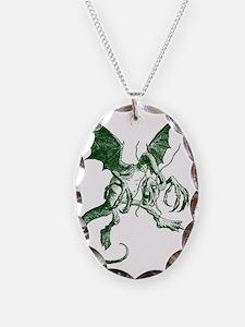 Jabberwocky Green Necklace