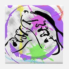 grunge irish dance Tile Coaster