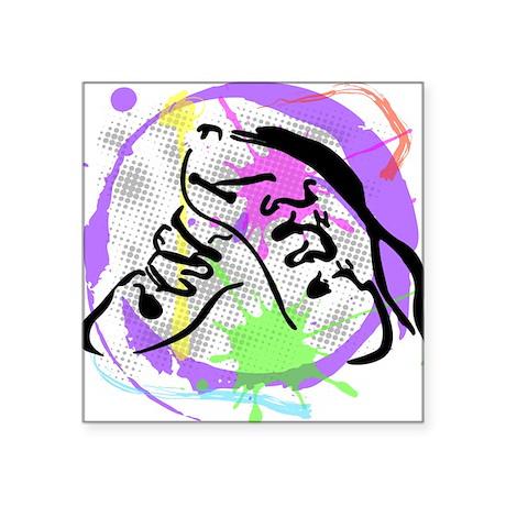 "grunge irish dance Square Sticker 3"" x 3"""