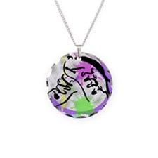 grunge irish dance Necklace Circle Charm