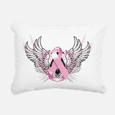 Awareness Tribal Pink Rectangular Canvas Pillow
