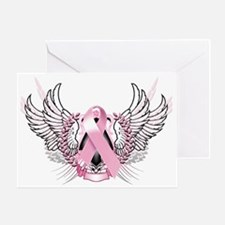 Awareness Tribal Pink Greeting Card