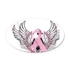 Awareness Tribal Pink Oval Car Magnet
