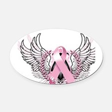 Awareness Tribal Pink Oval Car Magnet