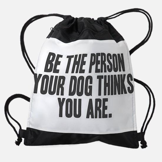 Be the Person Drawstring Bag