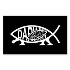 Lynn Margulis Fish Rectangle Decal