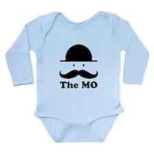 Moustache graphic print Body Suit