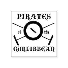"""Curlibbean Black Square Sticker 3"""" x 3"""""""