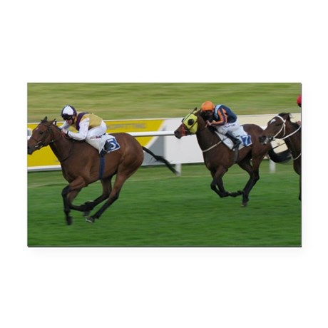 horse racing winning moves Rectangle Car Magnet