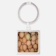 Eggs Square Keychain