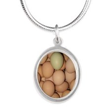 Eggs Silver Oval Necklace