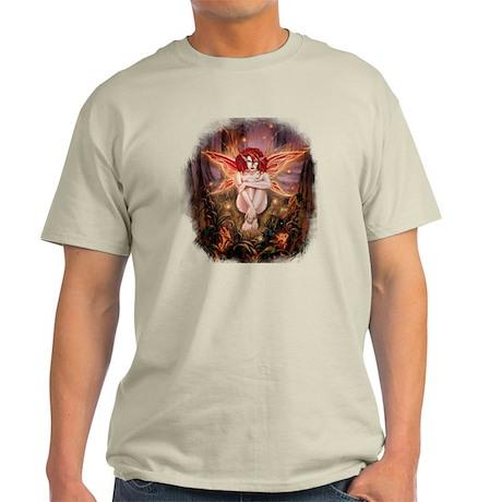 Ember-The Fire Sprite-tornedges Light T-Shirt