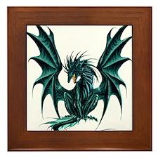 Jade Dragon Framed Tile