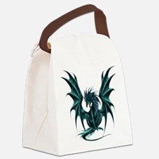 Jade Dragon Canvas Lunch Bag