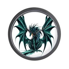 Jade Dragon Wall Clock