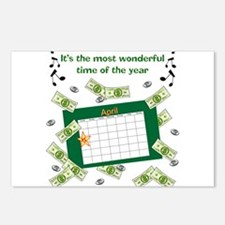 Income Tax Time Postcards (Package of 8)