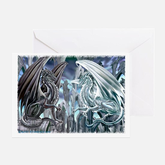 Checkmate Dragons Greeting Card