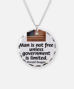 Reagan - Man is Not Free Necklace Circle Charm