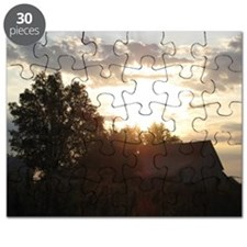 Sunrise over the Barn Puzzle