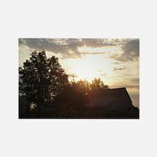 Sunrise over the Barn Rectangle Magnet