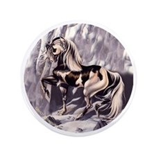 """Winters Sorrow Paint Horse 3.5"""" Button"""
