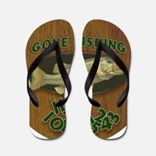 Gone Fishing Flip Flops