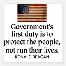 """Governments first duty Square Car Magnet 3"""" x 3"""""""