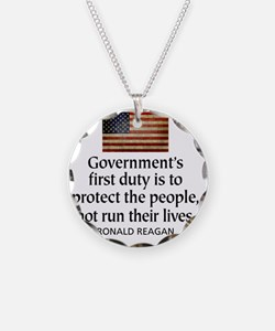 Governments first duty Necklace