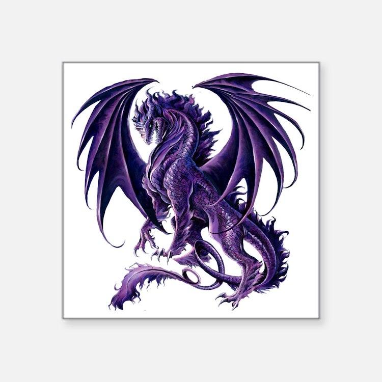 purple dragon stickers purple dragon sticker designs label stickers cafepress. Black Bedroom Furniture Sets. Home Design Ideas