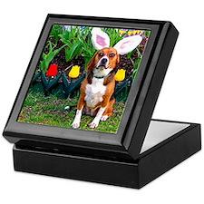 Easter Beagle 12x16 Keepsake Box