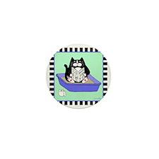 T_tux-litterbox-aqua Mini Button