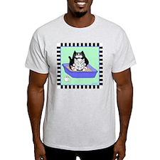 T_tux-litterbox-aqua T-Shirt