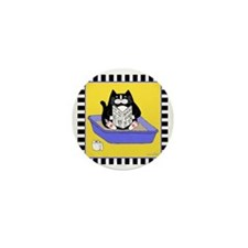 T_tux-litterbox-yllw Mini Button