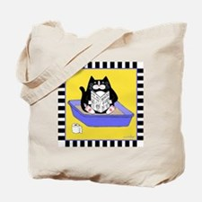T_tux-litterbox-yllw Tote Bag