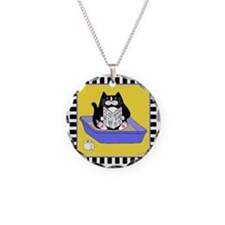 T_tux-litterbox-yllw Necklace