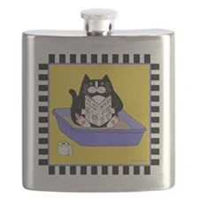 T_tux-litterbox-yllw Flask