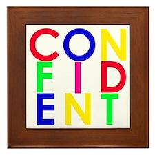 confident bright multi Framed Tile