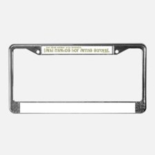 Parenthetical Proverbs Woman License Plate Frame