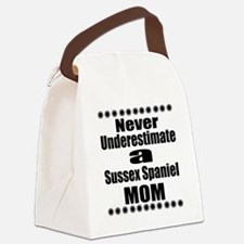 Sussex Spaniel Mom Canvas Lunch Bag