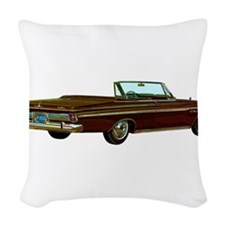 1963 Plymouth Sport Fury Woven Throw Pillow