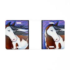 Paint Horse Luna Aluminum License Plate