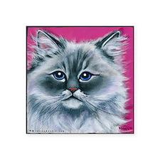 """Ragdoll Cat Square Sticker 3"""" x 3"""""""