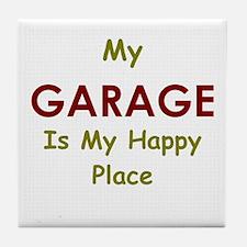 Garage black Tile Coaster