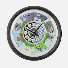WholeColoredWheel Large Wall Clock