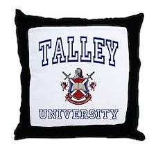 TALLEY University Throw Pillow