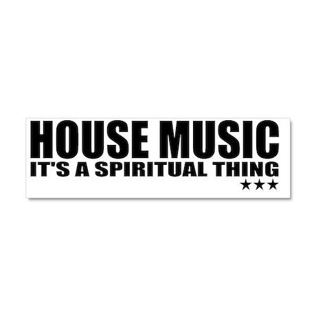 HOUSE MUSIC Car Magnet 10 x 3